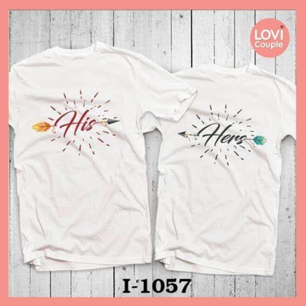 Áo Thun Cặp Chụp Ảnh đôi Lãng mạn i1057