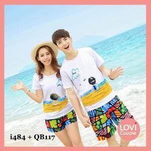 Quần cặp đôi đi biển nổi QB117