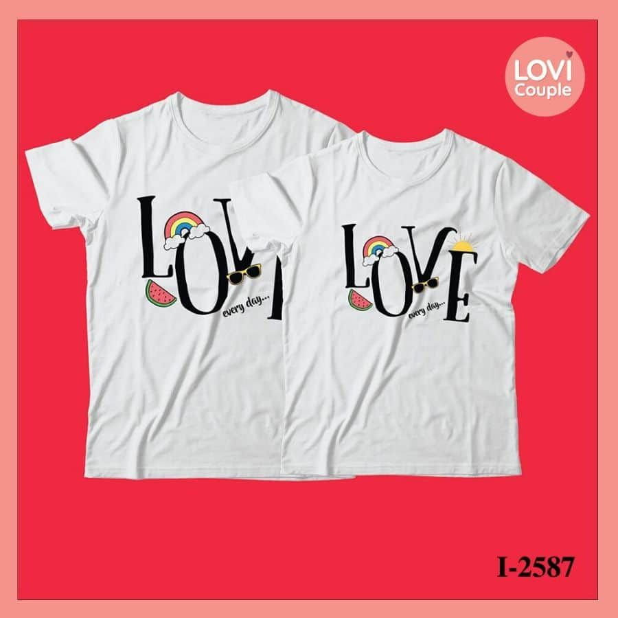 Áo Đôi In Chữ LOVE i2587