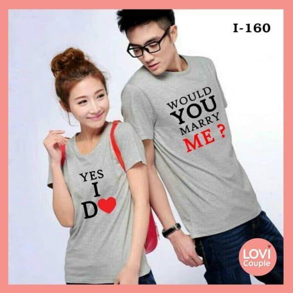 Áo Đôi In Chữ Would You Marry You - i160