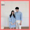 Áo váy cặp đôi xanh sọc E331