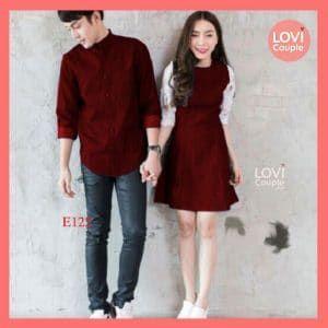 Áo váy đôi đỏ E122