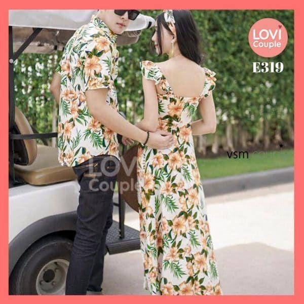Áo Váy Đôi Thời Trang Đi Biển E319