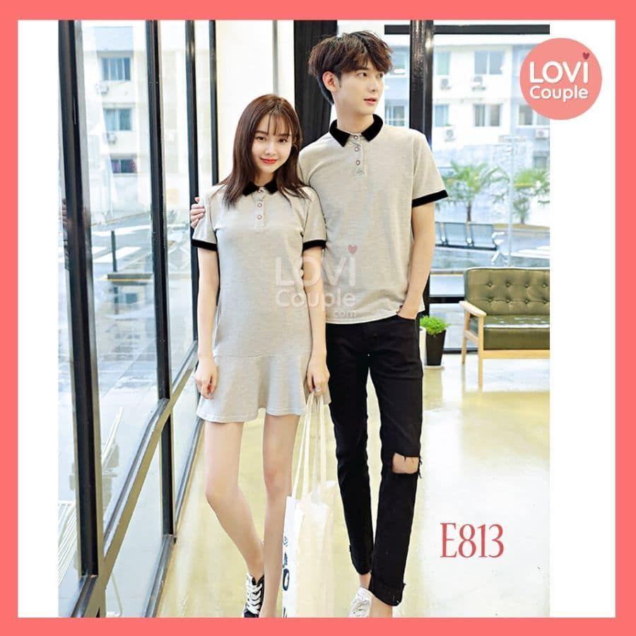 Áo Váy Thun Đôi Xám Đuôi Cá E813