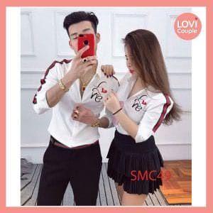 Sơ Mi Cặp Chữ LOVE SMC49