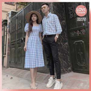 Áo Váy Cặp Đôi Caro Dễ Thương - E375