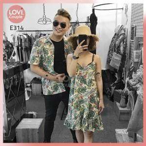Áo Váy Cặp Hai Dây Đi Biển E314
