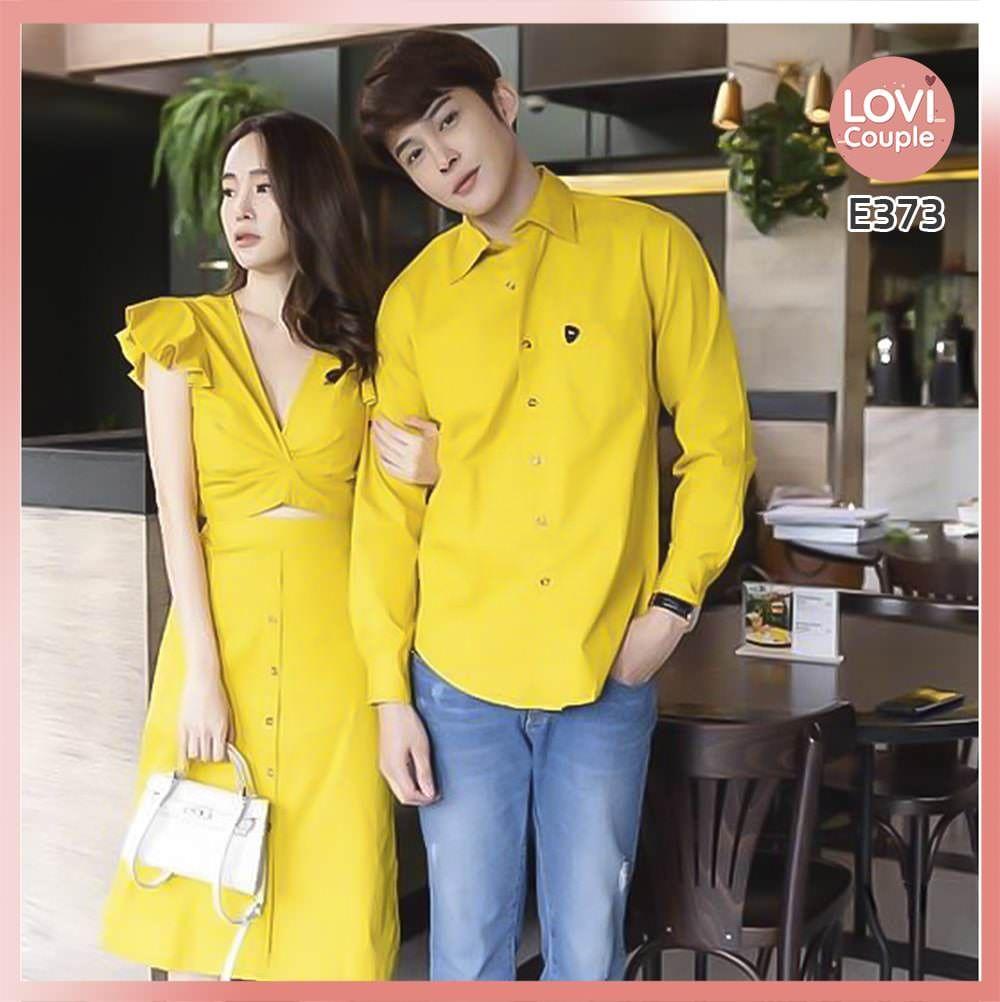 Áo Váy Đôi Tình Nhân Vàng E373