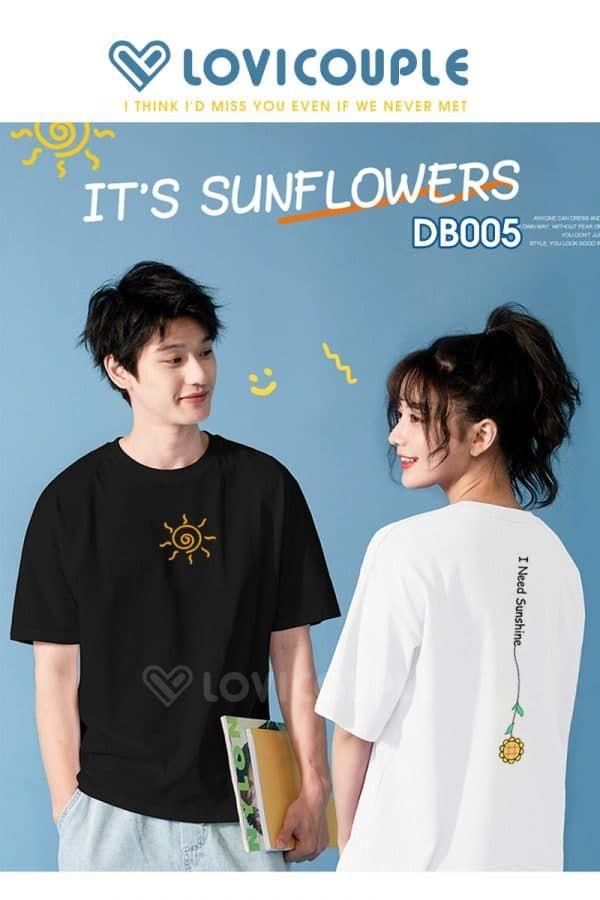Áo Thun Đôi Sun & Flower DB005