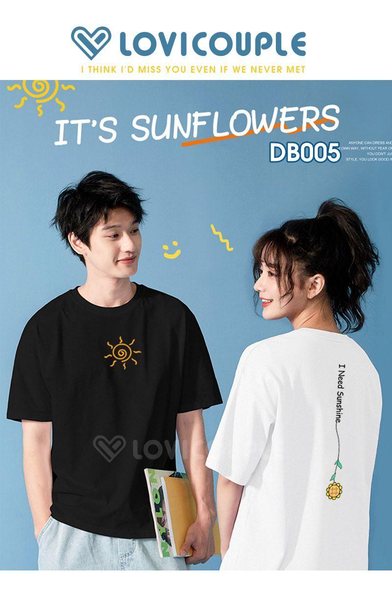 ao thun doi sun flower db005 4