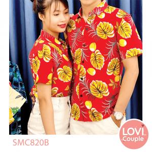 Sơ mi cặp đi biển hoa lá SMC803