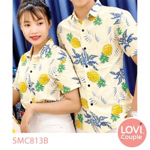 Sơ mi cặp đi biển hoa lá SMC813