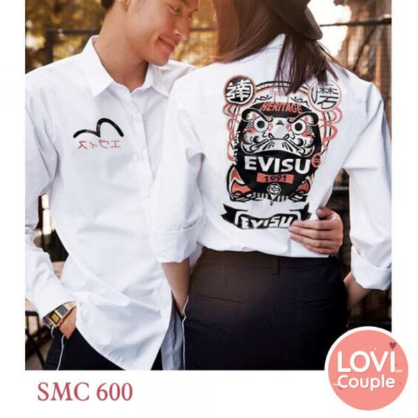 Sơ mi cặp thêu chữ EVISU SMC600 SMC601