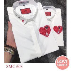 Sơ mi đôi in chữ My Love SMC603