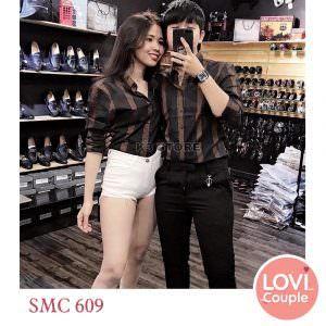 Sơ mi đôi sọc đen SMC609