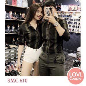 Sơ mi đôi sọc đen SMC610
