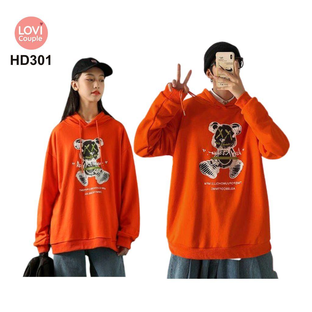 Áo Hoodie Cặp Đôi Thời Trang Trẻ HD301