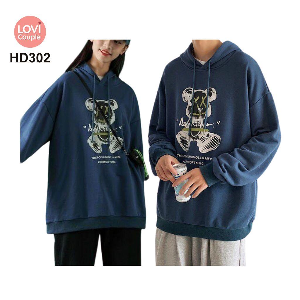 Áo Hoodie Cặp Đôi Thời Trang Trẻ HD302