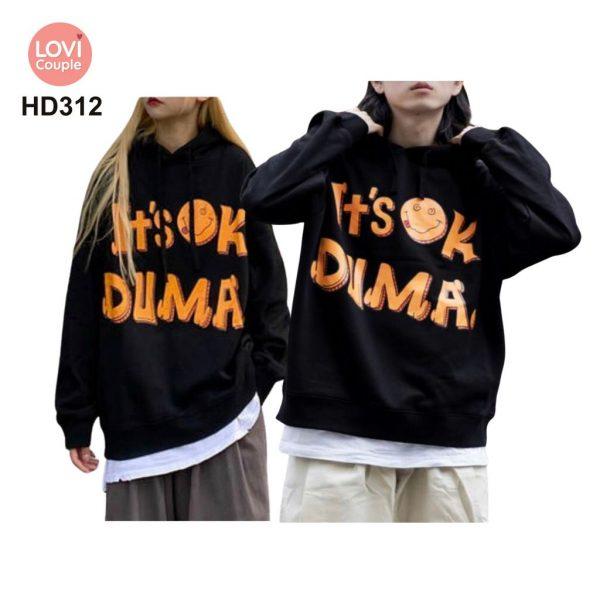 Áo Hoodie Cặp Đôi Thời Trang Trẻ HD312