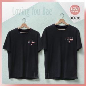 Áo thun cặp Loving You DC638